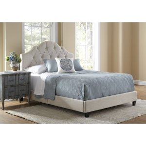 Queen Upholstered Panel Bed by Charlton Home