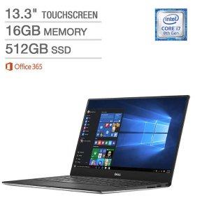 $1299.99Dell XPS 13 Touchscreen Laptop (i7-8550U, 16GB, 512GB SSD)
