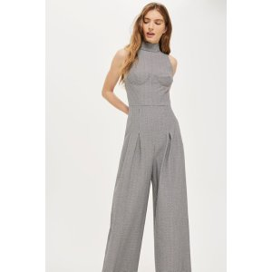 Dogtooth Checked Jumpsuit - Sale