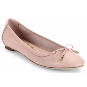 Salvatore Ferragamo - Enea Glove Bow Leather Ballet Flats - saks.com