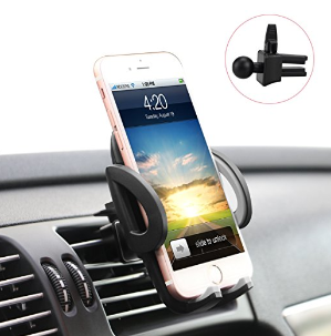 ilikable Air Vent Car Mount Holder with 360 Rotation and Release Button for Cell Phone iPhone Smartphone Android GPS Devices - Black