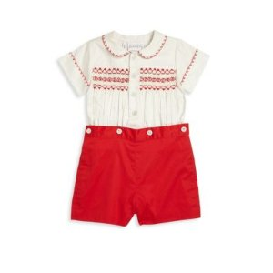 Baby's Two-Piece Smocked Set