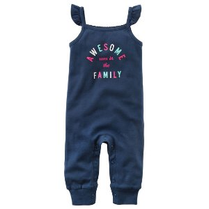 Baby Girl Awesome Runs In The Family Jumpsuit | Carters.com