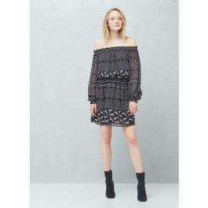 Flowy print dress - Women