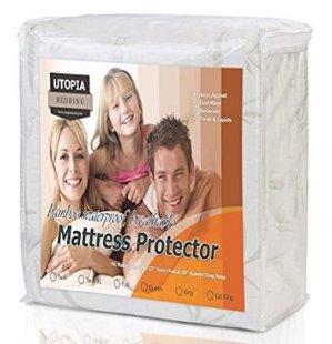 Utopia Bedding 防水防过敏竹纤维床垫保护套(Twin尺寸)
