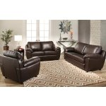 Abbyson Sedona 3-piece Premium Top-grain Leather Sofa, Loveseat and Armchair Set