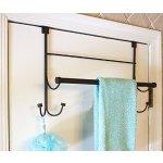 Bathsense Over the Door Towel Rack with 4 Hooks, Oil Rubbed Bronze