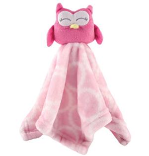 $5Hudson Baby Animal Friend Plushy Security Blanket, Pink Owl