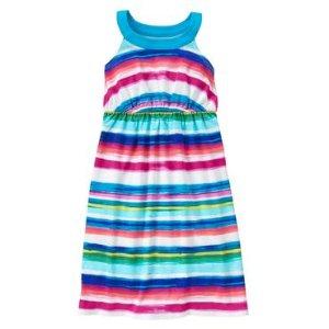 Girls Tidal Blue Stripe Multi-Striped Maxi Dress by Gymboree