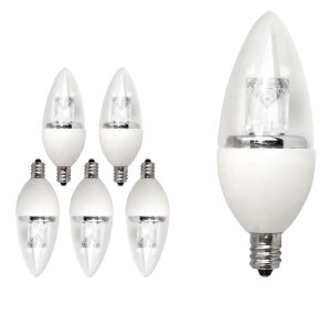 TCP 25 Watt Equivalent LED Decorative Torpedo Light Bulbs