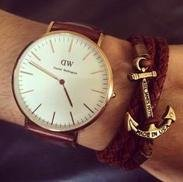 $70.66Daniel Wellington Men's 0106DW St. Mawes Stainless Steel Watch with Brown Band