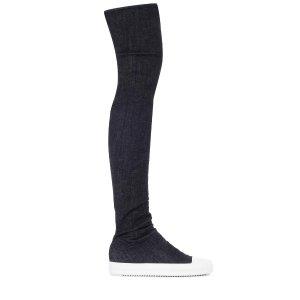 Rick Owens - Denim over-the-knee boots | mytheresa.com