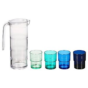 Tiers Pitcher & Tumblers Set of 5