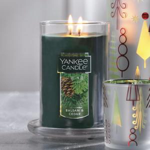 Balsam & Cedar Large 2-Wick Tumbler Candles - Yankee Candle