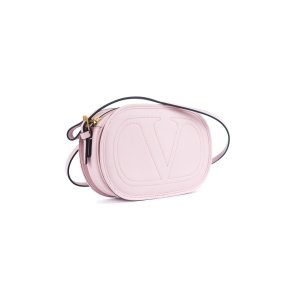 Valentino Valentino Women's Pink Logo Go Small Calfskin Crossbody Bag | Bluefly.Com