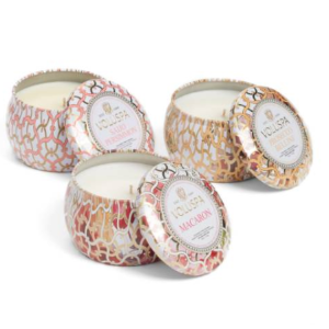 Voluspa Maison Blanc Mini Tin Candle Set