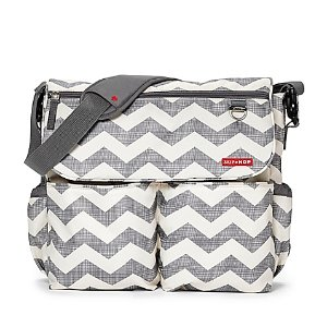 SKIP*HOP® Dash Signature Chevron Diaper Bag in Grey - buybuy BABY