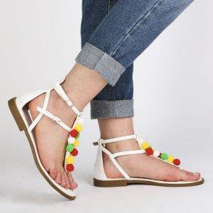 Anika Gladiator Sandals in White | Public Desire