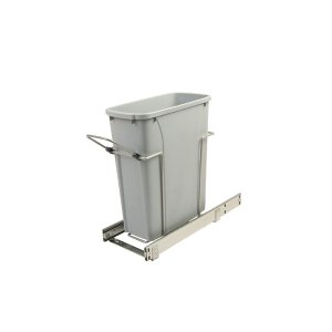 Knape & Vogt 8.375 in. x 20.125 in. x 17.313 in. 20 Qt. In-Cabinet Single Soft-Close Bottom-Mount Pull-Out Trash Can-SCB9-1-20PT - The Home Depot