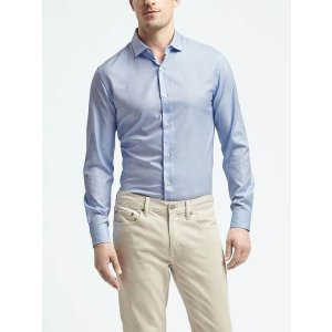 Camden-Fit Textured Supima® Cotton Shirt | Banana Republic