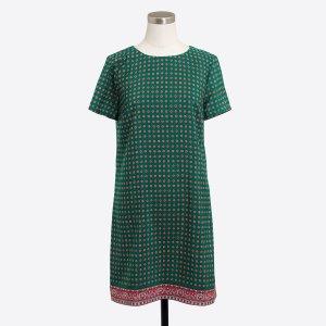 Printed short-sleeve gallery dress : Dresses | J.Crew Factory