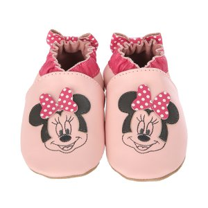 Minnie Dots Soft Soles Baby Shoes, Pink | Robeez