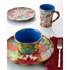 Poetic Wanderlust 16-Piece Hand-Painted Dinnerware Service