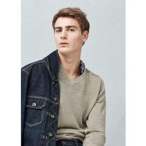 V-neck linen sweater - Men | OUTLET USA