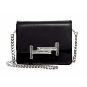Tod's - Mini Double T Leather & Chain Crossbody Bag - saks.com