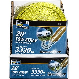 Reese Carry Power 20' Tow Strap with Hook