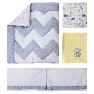Circo™ 4pc Crib Bedding Set - Zigs 'n Zags