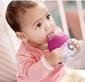 $8.99 Philips Avent My Little Sippy Cup, Pink/Purple, 7oz, 2 piece
