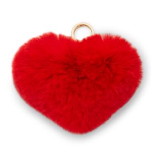Heart Fur Pom Pom