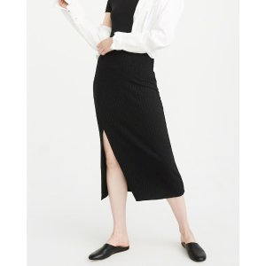 Womens Knit Midi Skirt | Womens Clearance | Abercrombie.com