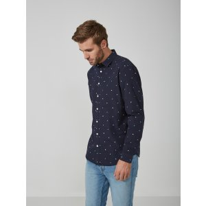 Jacquard Cotton Shirt in Night Sky | Frank And Oak