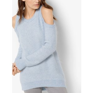 Wool-Blend Peekaboo Sweater