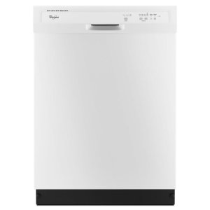 Shop Whirlpool 55-Decibel Built-in Dishwasher (White) (Common: 24-in; Actual: 23.875-in) ENERGY STAR at Lowes.com