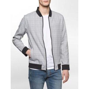 printed zip bomber sweatshirt | Calvin Klein