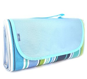 $10.5koolsupply Sand Proof Water Proof Beach Blanket Mat, Picnic Blanket, Outdoor Mat, Water Resistant Top with Water and Stain Proof Bottom, Large Mat, Easy to Fold and Clean
