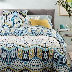 Organic Mosaic Tile Duvet Cover + Shams | west elm