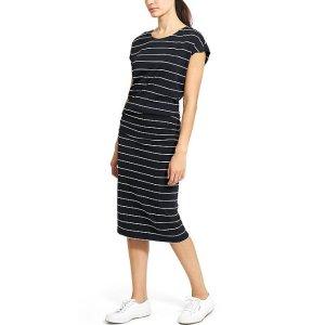 Horizons Stripe Midi Dress