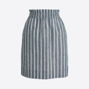 Herringbone striped sidewalk mini skirt