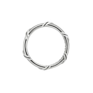 Ribbon and Reed Signature Classic Band Ring in sterling silver 3 mm