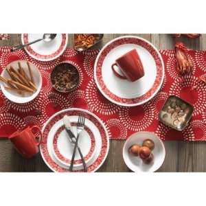 Corelle Livingware 16-Piece Dinnerware Set, Bandhani - Walmart.com