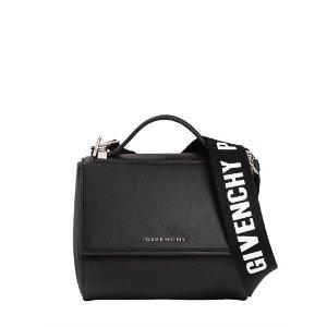 GIVENCHY - MINI PANDORA BOX LEATHER BAG W/ STRAP - SHOULDER BAGS - BLACK - LUISAVIAROMA