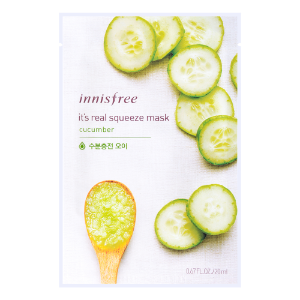 NNISFREE IT'S REAL SQUEEZE MASK Cucumber Mask 1sheet