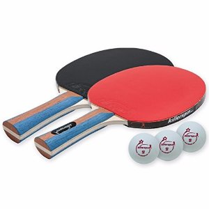 $20.99 Killerspin JETSET 2 Table Tennis Paddle Set with 3 Balls