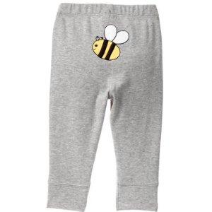 小蜜蜂图案长裤