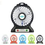 Portable Fan, COO Mini USB Rechargeable Fan with 2200mAh Power Bank and Flashlight, 3 Speed Desk Fan, Perfect for Traveling, Camping, Fishing, Office.(Black)