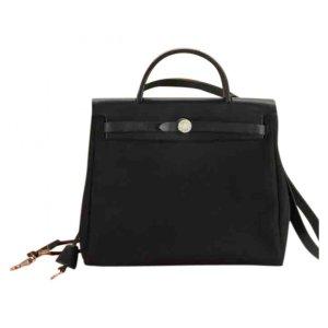 black Plain Cloth HERMÈS Handbag - Vestiaire Collective